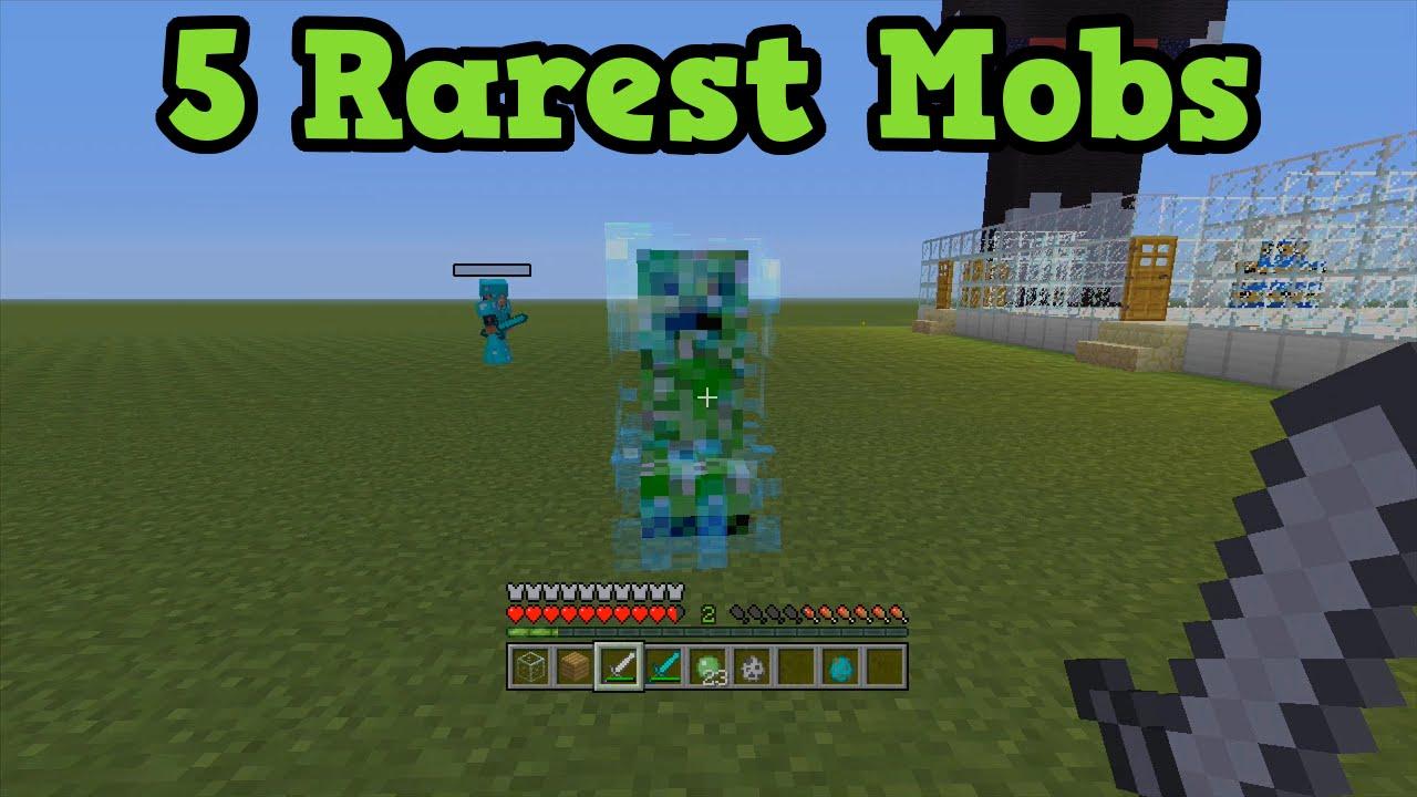 Minecraft Xbox 360 PS3 Top 5 Rarest Mobs