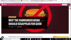 Hamburger Menu Dreadful Design, hopefully on the way out
