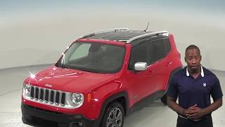 A97324TA - Used, 2017, Jeep Renegade, Limited, Red, SUV, Test Drive, Review, For Sale -