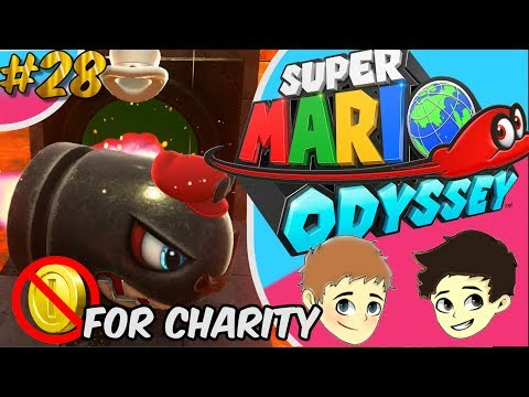 Super Mario Odyssey; the biggest Oof - No Coin Charity Run Ep.28 - The Game Boys
