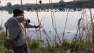РИБАЛКА З РОГАТКОЮ. Slingshot fishing. Полювання на карпа