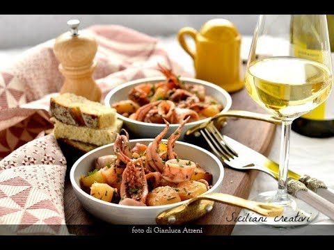 Siciliani Creativi  Calamari in umido con patate  Stewed squid