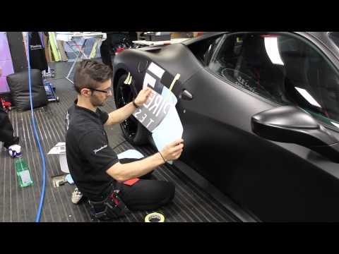 Empire Estates Ferrari 458 Gets Branded & Wrapped In Satin Black