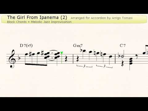 The Girl from Ipanema 2  Jazz Accordion Sheet music