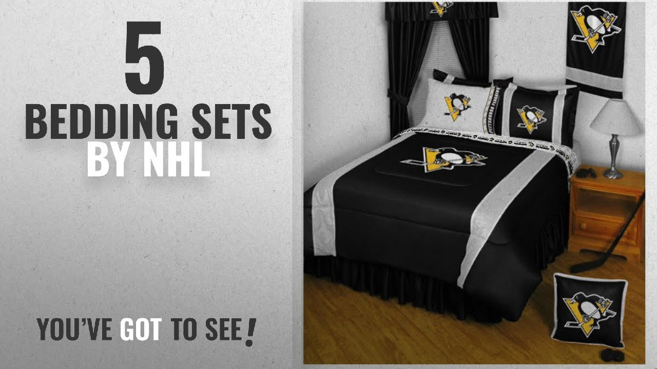 Top 10 Nhl Bedding Sets 2018 Nhl Pittsburgh Penguins 5pc Bed In
