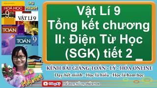 [ Vật Lí 9 ] Bài 39 Tổng kết chương II:  Điện Từ Học (SGK) tiết 2