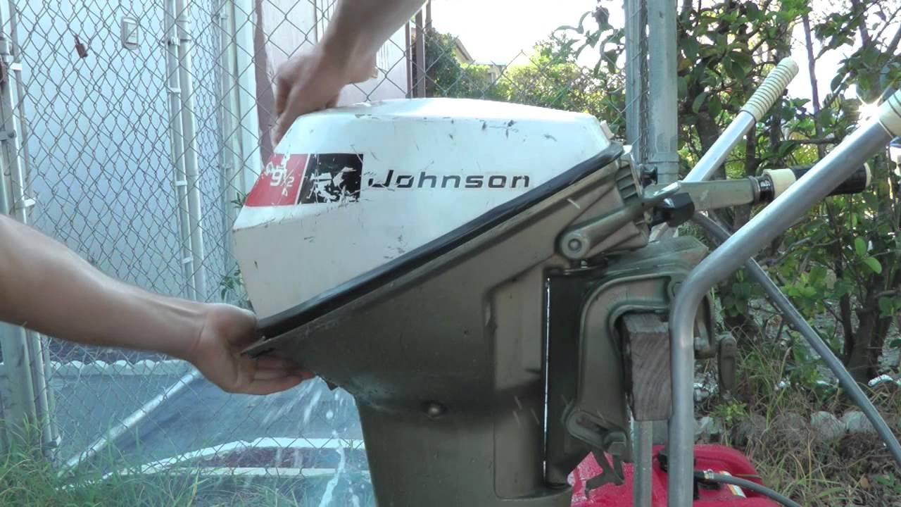 9 5hp johnson short shaft tiller outboard motor youtube rh youtube com 9.5 Johnson Outboard Parts 1966 Johnson 9.5 HP Outboard Motor