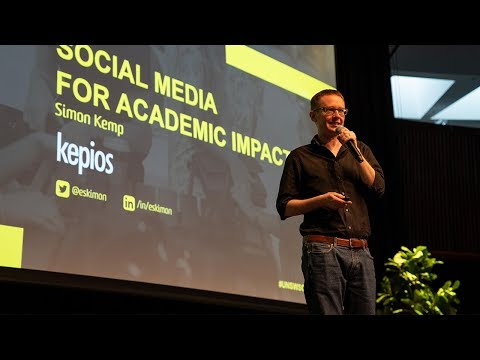 Social Media for Academic Impact, Simon Kemp at UNSW Social