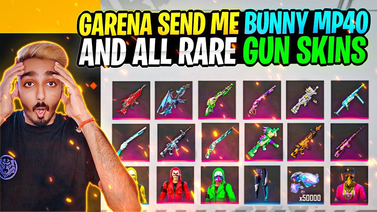 Garena Send Me 😱 Bunny MP40 And All Rare Gun Skin Permanent सब कुछ मिल गया || Free Fire