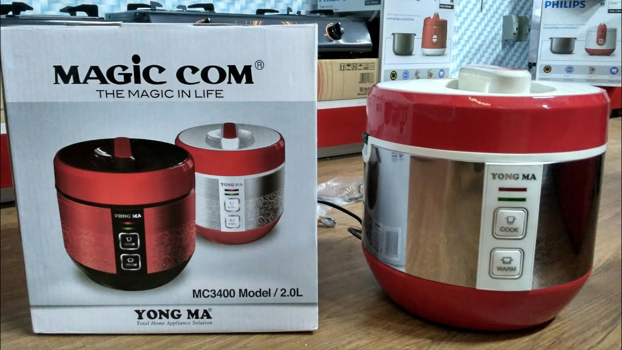 Yong Ma Magic Com Mc 3400 Merah Daftar Harga Terbaru Terlengkap Mc5600r Digital Multi Rice Cooker Yongma New Design With Tinum