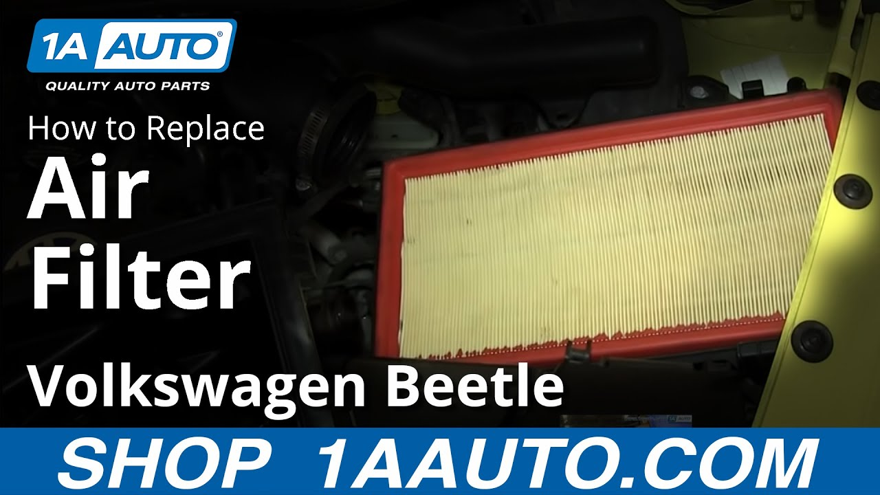 How To Install Replace Engine Air Filter 1998 10 Vw Volkswagen 1 8 Diagram Beetle