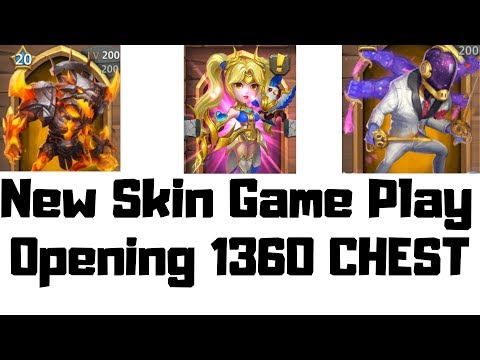 New Skins | Gameplay | Opening 1360 Chests | Castle Clash