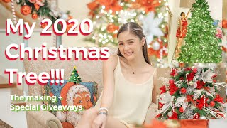 My 2020 Christmas Tree | The Making + SPECIAL GIVEAWAYS!