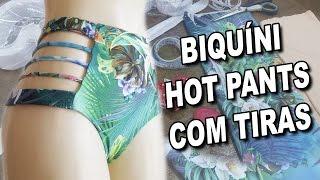 Biquíni Hot Pants com Tiras – Vídeo Aula passo a passo