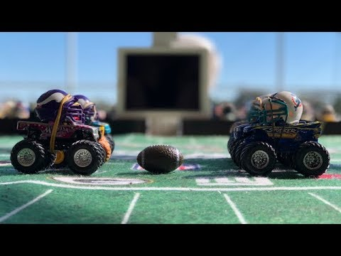"""MONSTER TRUCK FOOTBALL PLAYOFF GAME """"VIKINGS VS DOLPHINS"""""""