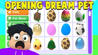 I Opened EVERY EGG Ever in Adopt Me To Get DREAM PET.. (DID IT WORK!?)