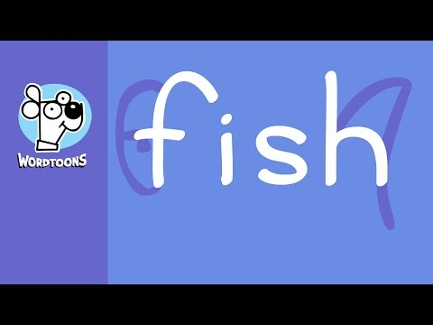 Draw Fish Using The Word  (( 3 Totally Different Wordtoon Fish ))