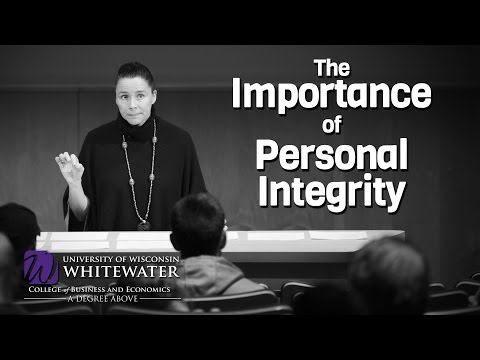 the importance of maintaining personal integrity Integrity is the quality of being honest and having strong moral principles, or moral uprightness it is a personal choice to hold one's self to consistent standards.