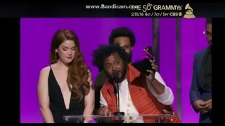 Kendrick Lamar These Walls wins the Best Rap Collaboration at the 58th GRAMMYS Award 2016