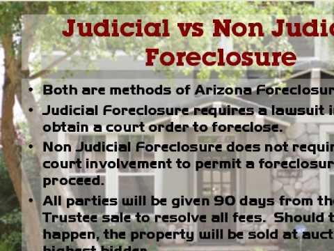 Arizona Foreclosure Law Summary