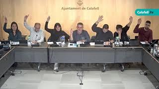Ajuntament de Calafell: Sessió plenària ordinària, 14 de novembre de 2019