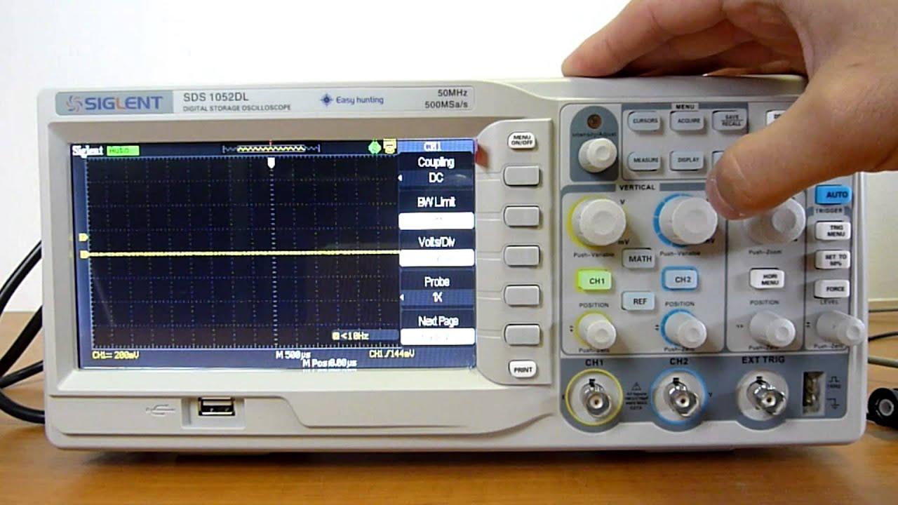 Siglent 1052 digtal oscilloscope review
