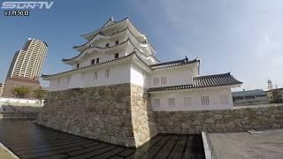 2019年3月の一般公開に向けて再建が進んでいた尼崎城が完成し、30日初め...