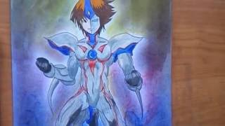 Judai yuki as elemental hero neos ( speed drawing )