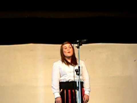 Ar Lan y Môr - soloist Kate Harwood of Ysgol Gyfun Gymraeg Bryn Tawe