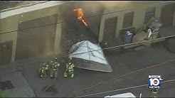 Firefighters battle warehouse fire in Hialeah Gardens