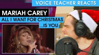 Mariah Carey - All I Want For Christmas Is You | Voice Teacher Reacts
