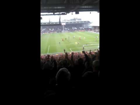 Bristol city fans at fulham