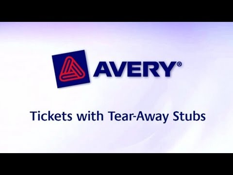 avery ticket template free