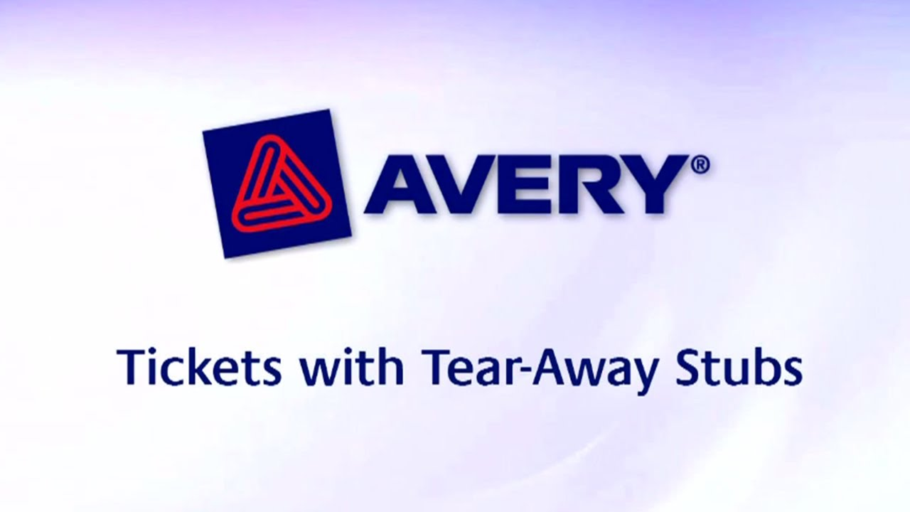 avery tickets with tear away stubs 1 3 4 x 5 1 2 matte white 200
