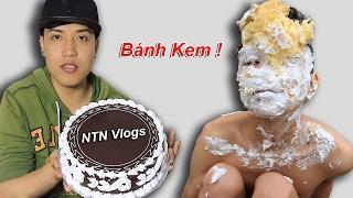 NTNVlogs - Thử Đập Bánh Kem Vào Mặt ( Pie In The Face )