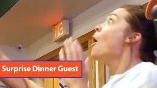 Marine Surprises Wife At Restaurant