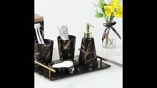 욕실 용품 세트 휴지케이스 칫솔꽂이 손세정제 비누받침대…