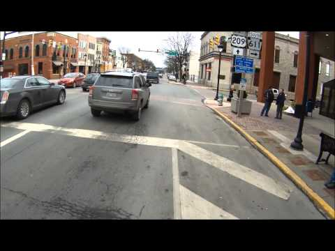 Bike Ride through Stroudsburg, PA