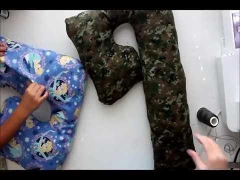 How to sew the BEST neck traveling pillow tutorial . Como hacer una almohada de cuello