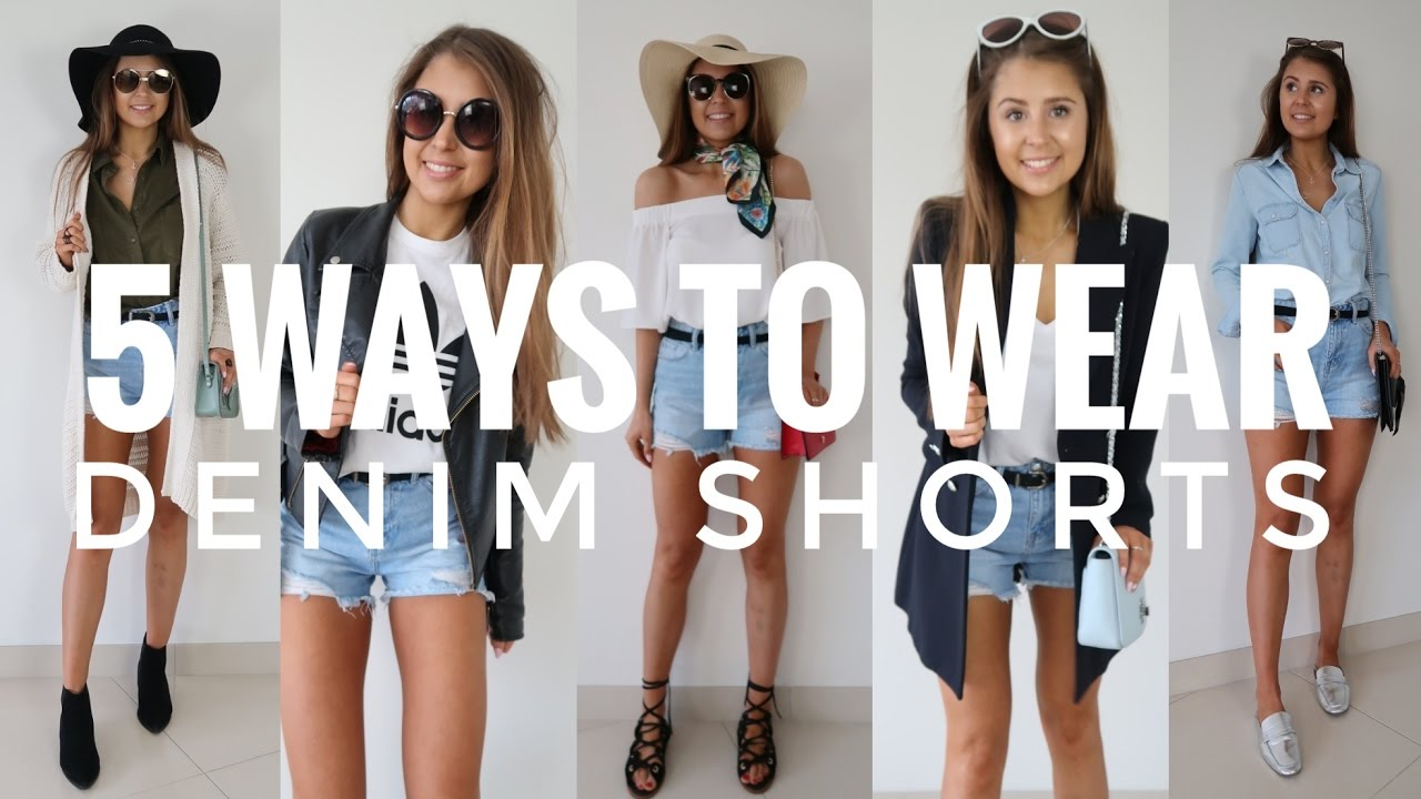 ddbd3371af 5 Ways to Wear Denim Shorts - YouTube