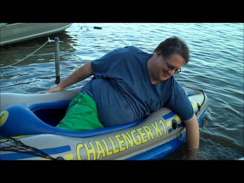 Fat Man And His Kayak Youtube