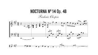 Partitura: Frederic Chopin - Nocturna (Nocturne) Nº 14 Op. 48 | Clases de Produccion de Partituras