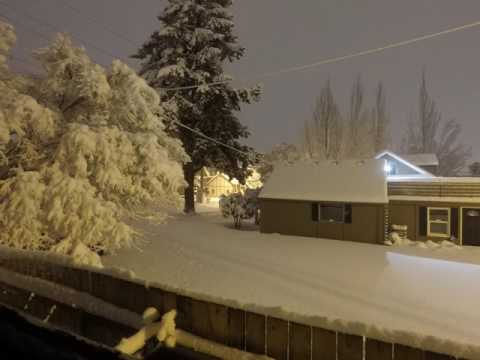 Overnight timelapse of snowstorm in Vancouver, WA
