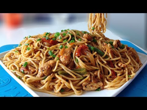 How to make chicken stir fry without noodles with spaghetti sauce