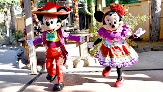 Mickey & Minnie Mouse Dancing Mariachi Meet & Greet at Disneyland Paris, Halloween Festival 2018