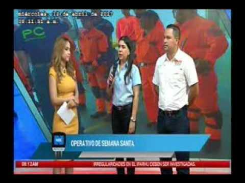 Javier Castillo, director del 911 y Kathia Ochoa, CSS, miércoles 12 de abril