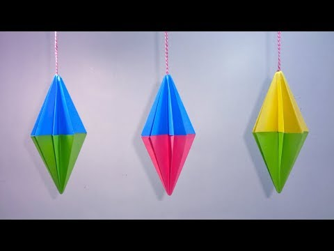 Paper Crafts Ideas For Christmas Decorations | Hanging Paper Christmas Crafts