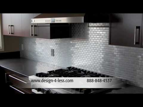 Steel Backsplash Tile Designer Tiles Gl Kitchen Backsplashes Design For Less You