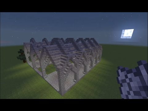 Minecraft Tutorial - Archway/Hallway (SciJonica)