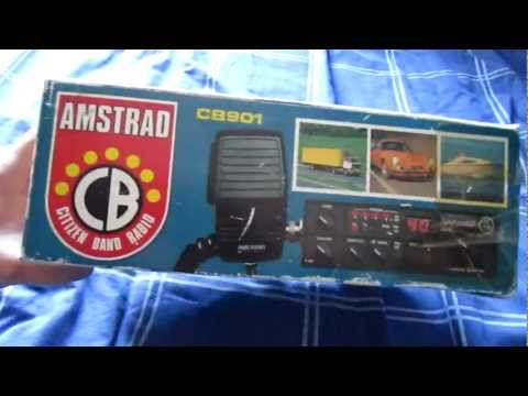 BOXED AMSTRAD 901 CB RADIO WITH MANUAL AND LICENCE